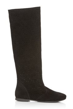 Cizme negre performate din piele intoarsa DM1611 -  Ama Fashion