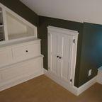 Crawl space door for behind bathroom wall in attic.