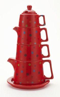Polka Dot Tea Tower