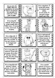 riddle worksheet animal riddles 4 more difficult. Black Bedroom Furniture Sets. Home Design Ideas