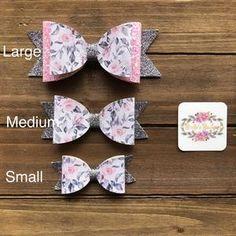 Softball Hair Bows, Barrette, Handmade Headbands, Handmade Crafts, Handmade Products, Handmade Rugs, Bow Template, Pink Hair Bows, Baby Hair Clips