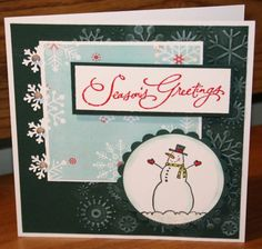 Season's Greetings 3 by - Cards and Paper Crafts at Splitcoaststampers Stampin Up, Card Ideas, Christmas Cards, Card Making, Paper Crafts, Snow, Seasons, Create, Friends