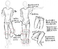 横顔/身体/服のシワの描き方のようなもの。 |ほさしー