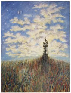 The Lighthouse at Hark's Harbor (Abarat). Oil by Clive Barker