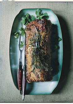 Roast Pork Loin with Garlic and Rosemary Recipe   Epicurious