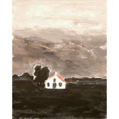 Zeeuws huis | 20x14cm | Lotje Meijknecht alias de Slootjesschilder, kunst, prints & quilts
