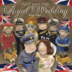 Knit Your Own Royal Wedding Book by Fiona Goble - Complete with a Fold-Together Balcony - Knitting Lover - Royal Family Collectable - Fun Knitting Books, Hand Knitting, Knitting Needles, Knitting Yarn, Knitting Projects, Crochet Projects, Diy Projects, Kate Middleton Wedding Dress, Thing 1