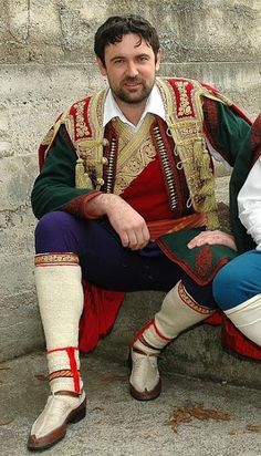 FolkCostume&Embroidery: Men's Costume of Crna Gora, Црна Гора. Montenegro, The Black Mountain