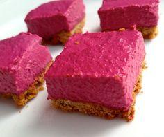 """Beet """"Cheesecake"""" Bites #glutenfree"""