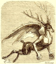 The Demon Furfur as depicted in Collin de Plancy's Dictionnaire Infernal, 1863 edition.