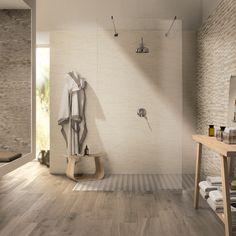 Wood Look Tile, Double Vanity, Plank, Brick, Tile Floor, Fiber, Sweet Home, Bathtub, Home And Garden