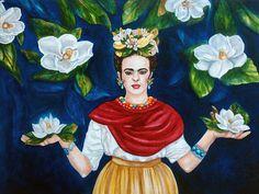 Frida Kahlo Print Frida Kahlo Art Mexican by kMadisonMooreFineArt