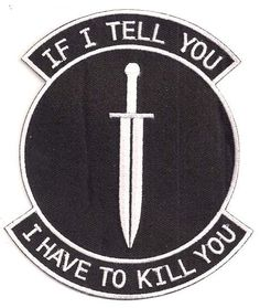 "Transformers ""If I Tell You.I Have to Kill You"" Logo 4"" Uniform Patch (TRPA-17)"