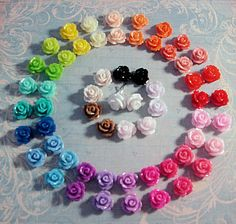 Vintage Style Small Cute Rose Stud Earrings-this makes me want to get my ears pierced!
