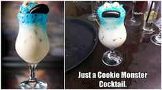 Easy and Delicious Cookie Monster Cocktail!