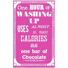 Pink 'Chocolate' Tea Towel #gifts #towel #kitchen