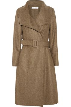 OSCAR DE LA RENTA Cashmere and goat hair-blend felt coat
