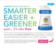 Method Detergent: Free Bottle - Coupons and Deals - SavingsMania Method Laundry Detergent, One Deal, Extreme Couponing, Frugal Tips, Coupon Deals, Free Samples, Bath And Body Works, Drink Bottles, Coupons