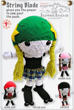roller derby jammer string doll