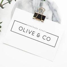 Premade Logo, Minimal Design, Minimalist Logo, Modern Branding Design, Business Logo Design, Blog Logo Design, Typography Logo, Rectangle