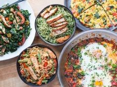 5 Healthy Meal Prep Recipes For Weight Loss | FlavCity Healthy Recipe Videos, Healthy Meal Prep, Healthy Dinner Recipes, Vegetarian Meals, Healthy Eating, Healthy Food, Healthy Weight, Lunch Recipes, Meal Recipes