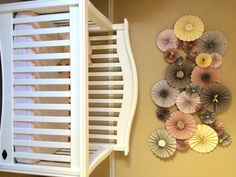 Project Nursery - Pinwheel Art over the Crib