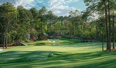 12th Hole Golden Bell Augusta National http://www.golfcourseartwork.com/golf-prints/augusta-national-golf-course-prints/12th-hole-golden-bell-1/12th-hole-augusta-national-golden-bell-golf-print