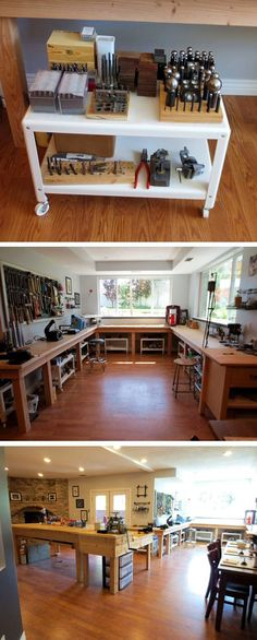 Art Studio Ideas Workshop Dreams 69 Ideas Related posts: 60 Most Popular Art Studio Organization Ideas and Decor 70 Favorite DIY Art Studio Small Spaces Ideas 70 Favorite DIY Art Studio Small Spaces Ideas 70 Favorite DIY Art Studio Small Spaces Ideas Dream Studio, Home Studio, Garage Art Studio, Studio Spaces, Garage Atelier, Workshop Studio, Wood Workshop, Workshop Ideas, Studio Organization