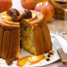 Charlotte aux pommes, châtaignes et fruits secs