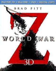 World War Z 3D [Unrated] [3 Discs] [Includes Digital Copy] [3D] [Blu-ray/DVD] [Blu-ray/Blu-ray 3D/DVD] [2013]