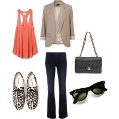 casual day- minus the leopard print shoes