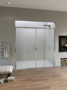Box doccia con porta scorrevole a 4 antine Acqua R 5000   Duka