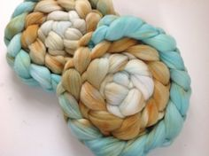 Hand Dyed gradient roving for spinning or felting by FiberArtemis, $17.50