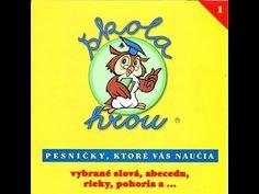 ŠKOLA HROU 1 (vybrané slová, abeceda, rieky, pohoria...) - YouTube Songs, Youtube, Audio, Song Books, Youtubers, Youtube Movies