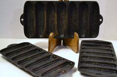 Vintage Cast Iron Cornbread Pan Set of Three by PanchosPorch, $48.00