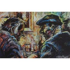 In Conversation - Limited edition print from a painting of a pub scene by artist Stephen Bennett - limited to a run of 250 prints each signed and numbered by the artist. Romare Bearden, Wild Atlantic Way, Music Painting, Irish Art, Irish Traditions, Donegal, Banjo, Limited Edition Prints, Life Is Beautiful