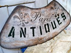 Hand painted French chic distressed sign says by AnitaSperoDesign, $75.00