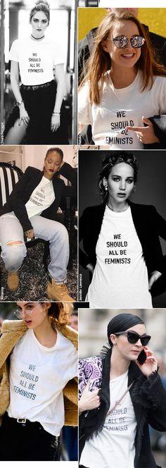 Street style look camiseta Dior.