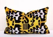 Velvet ikat pillows | UZHANDICRAFTS
