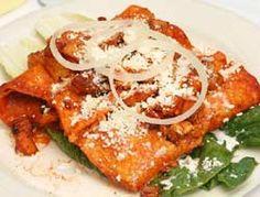 Enchiladas morelianas - Cocina Mexicana - Recetas de Comida Mexicana