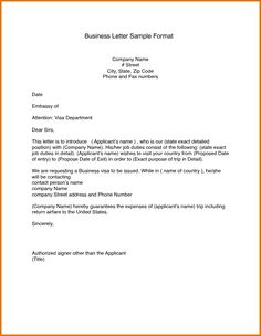 letter template for business