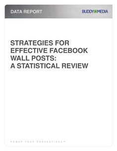 Great study by BuddyMedia on when, and what to post on brand facebook pages.