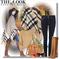 Fall Trend:  The #Plaid #Poncho / #Wrap #fraas store.fraas.com