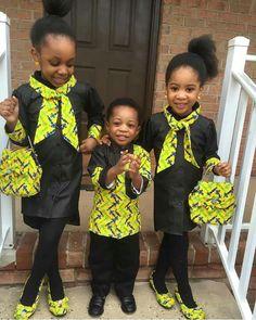 Kids in African print ~African fashion, Ankara, kitenge, African women dresses… Ankara Styles For Kids, Unique Ankara Styles, African Dresses For Kids, African Babies, African Children, African Print Dresses, African Fashion Dresses, African Women, African Prints