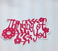 Thinking of You Die Cut Tags by DistinctClippings on Etsy, $2.25