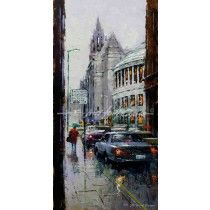 TOWN HALL AND CENTRAL LIBRARY - MANCHESTER a fine art print by E Anthony Orme Fine Art Trade Guild