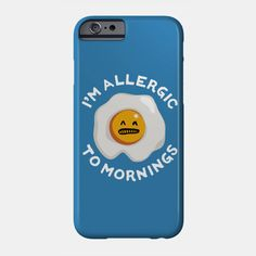e7f974467 I'm Allergic to Mornings - Funny T Shirt with Scrambled Eggs Phone Case Tank