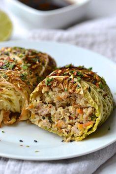 Cabbage Rolls – My Recipes Vegan Cabbage Rolls, Easy Cabbage Rolls, Cabbage Wraps, Chicken And Cabbage, Cabbage Rice, Asian Cabbage Rolls Recipe, Shredded Cabbage Recipes, Unstuffed Cabbage Rolls, Steamed Cabbage