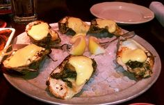 Oysters Pappadeaux with spinach, crab meat and Hollandaise sauce from Pappadeaux's in Phoenix,  AZ