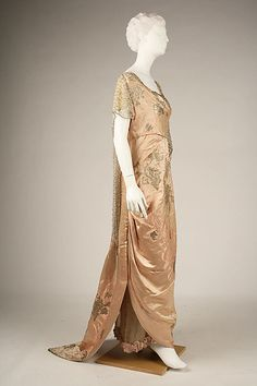 Evening Dress, House of Worth, 1914, French, silk